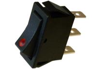 IN121 - INT. SIMPLES 250VAC 10A C/LUZ VERMELHO
