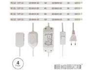CLLS04 - CONJUNTO 4 FITAS LED 25CM C/ ADAPTADOR E CONTROLADOR