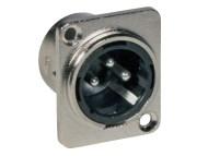 JBS1305 - JB SYSTEMS 1305 - Conector XLR macho, 3 pinos, para painel